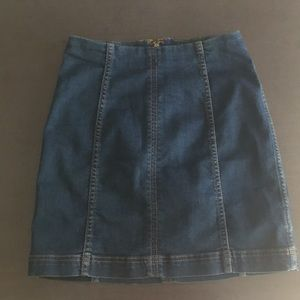 Free people fitted stretch jean skirt